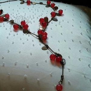 Vintage Style Berries & Leaves Necklace